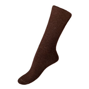Brown Alpaca Dress Sock