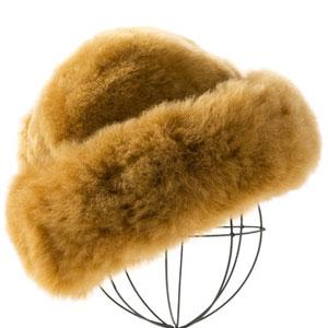 Camel Premium Baby Alpaca Fur Hat