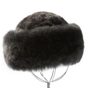 Charcoal Premium Baby Alpaca Fur Hat