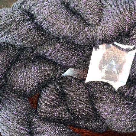 Zula 16: Black and Purple Sport Yarn in Alpaca and Bamboo Mix
