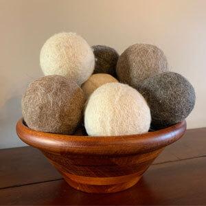 Alpaca Dryer Balls in Display Bowl