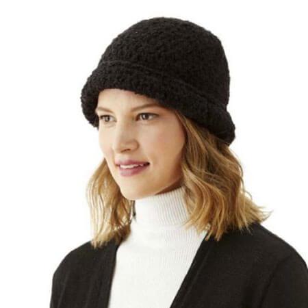 Boucle Alpaca Hat in Black