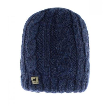 Close Up Reversible Alpaca Hat in Denim