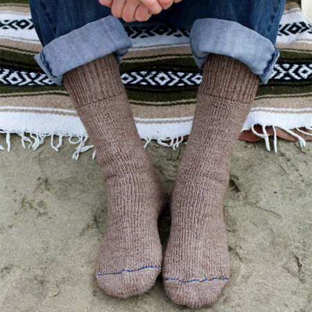 Superwarm Alpaca Socks on Man