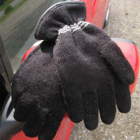 Black Alpaca Driving Gloves