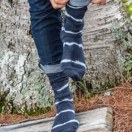 Tie Dyed Alpaca Socks