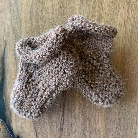 Knit-Alpaca-Baby-Booties-Dark-Brown