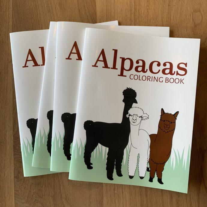 Alpaca Coloring Book Cover