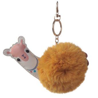 Llama Keychain Front