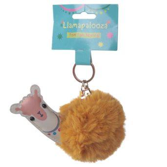 Llama Keychain With Packaging