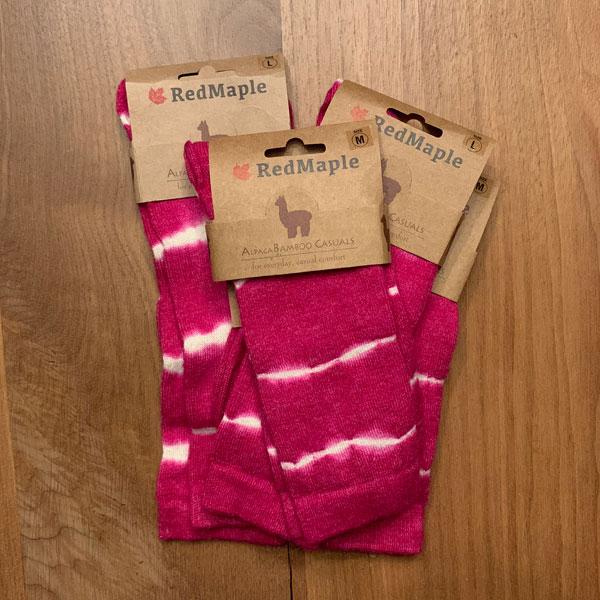 Pink Tye Dyed Alpaca Socks