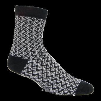 LC216 Black Zig Zag Alpaca Sock