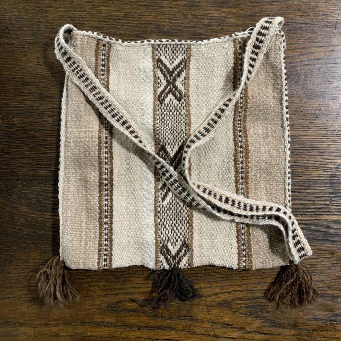 Woven Alpaca Shoulder Bag