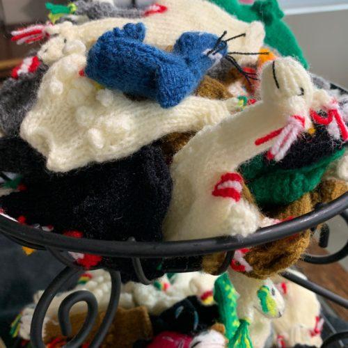 Alpaca Knit Finger Puppets