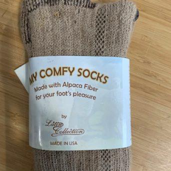My Comfy Tall Tan Socks in Small