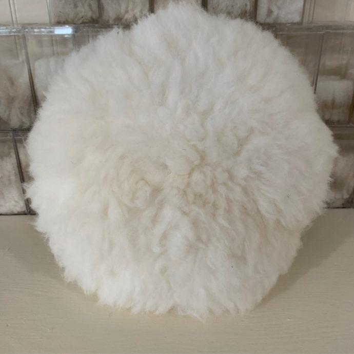 Round Alpaca Fur Pillow