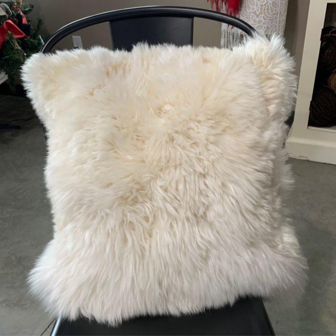 Square Alpaca Fur Pillow