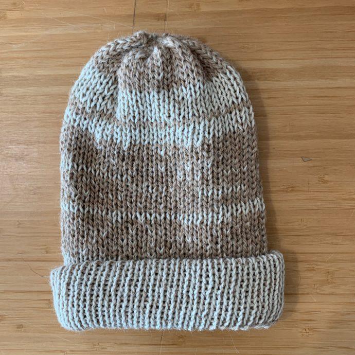 Dbl Knit Hat - Handmade 100% Alpaca