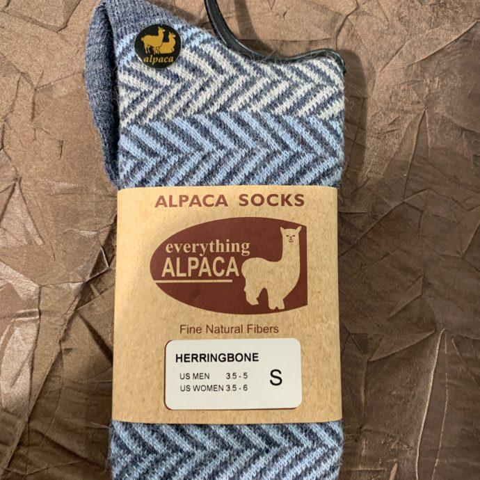 EA Denim Blue Herringbone Socks