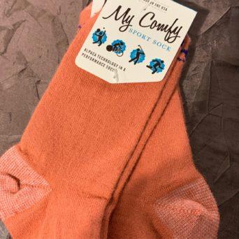 My Comfy Salmon Sport Sock - Medium LC214