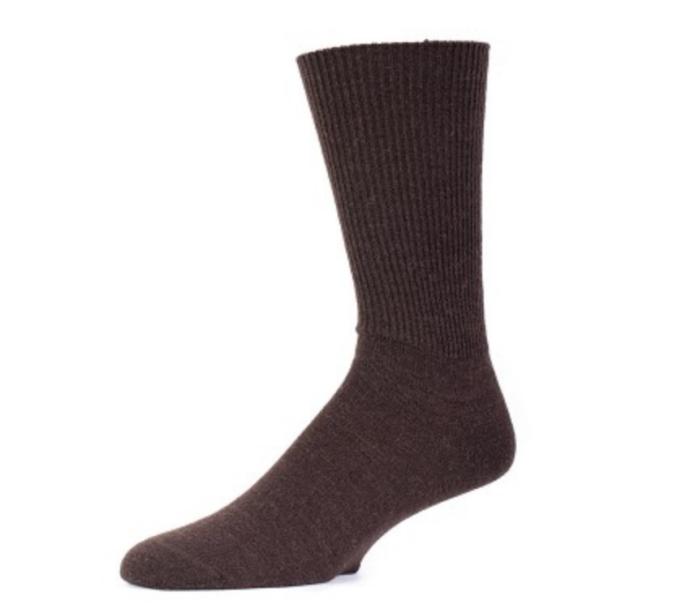 EA Brown Alpaca Dress Socks