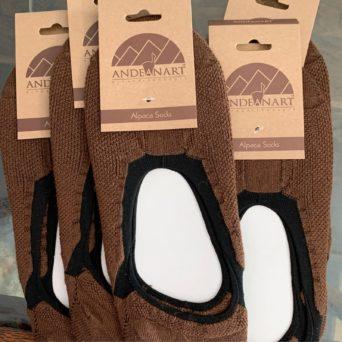 Alpaca Ballet Socks in Brown
