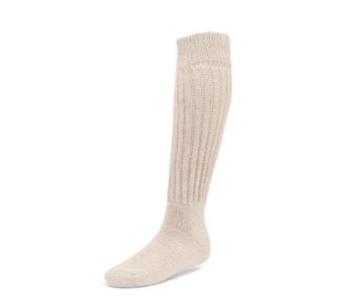 EA Relaxed Knee High Socks in Beige