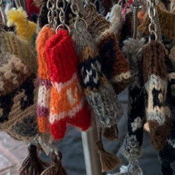Knit Hat Keychains