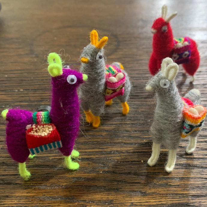 Knit Llama Magnets
