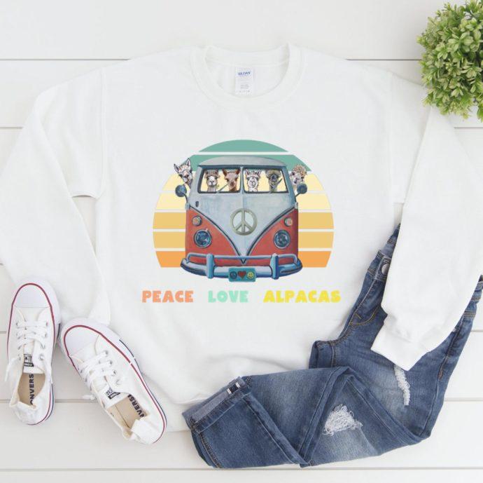 Peace Love Alpacas Sweatshirt