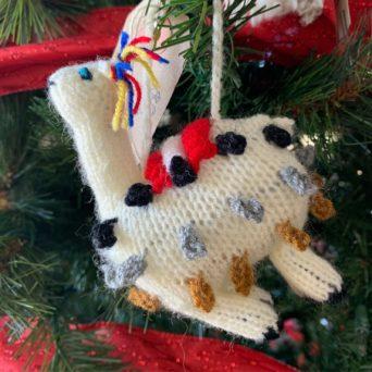 Hand Knit Llama Ornaments
