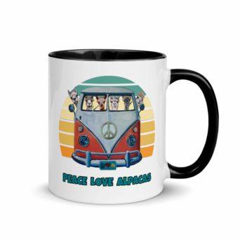 Peace Love Alpacas Coffee Mug