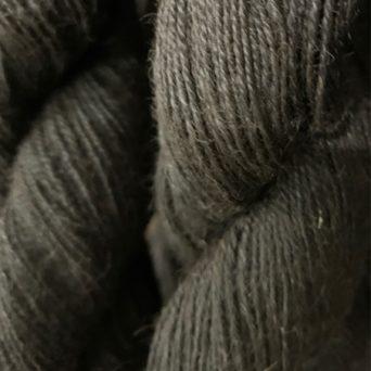 Grade 2 Black Fingering Alpaca Yarn