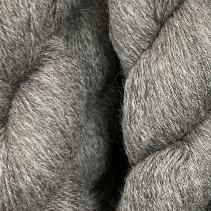 Grade 2 Silver Grey Fingering Alpaca Yarn