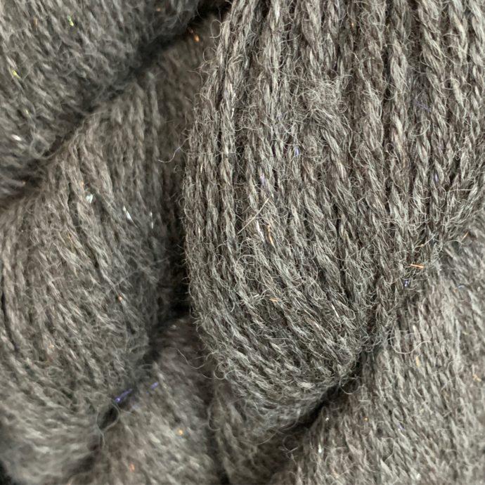 Angelina Silk and Dark Silver Grey Alpaca Yarn