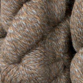100% Alpaca Yarn in Tweed Grey and Fawn