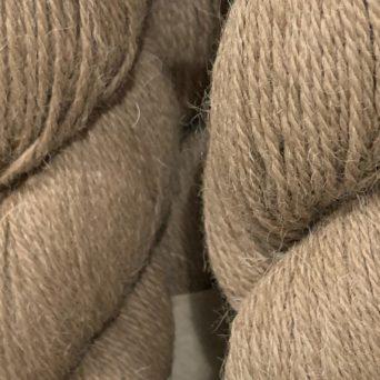 Ginger Dark Fawn Alpaca Yarn in 3 Ply Sport