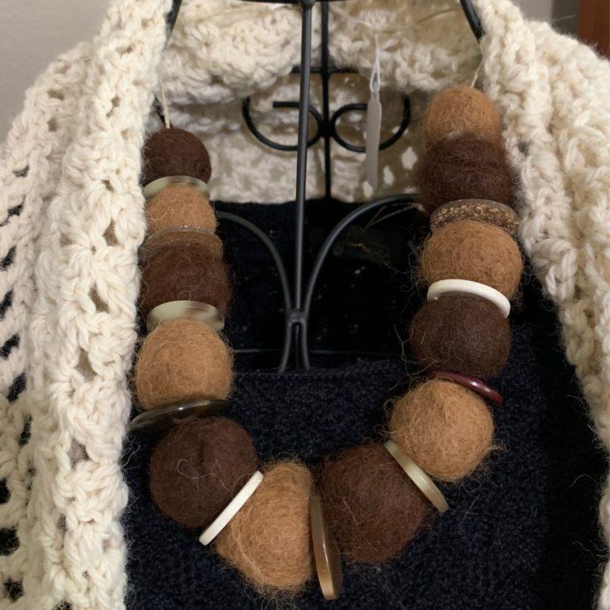 Alpaca Felt Necklace