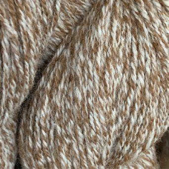 100% Alpaca Yarn in Fawn and White Tweed