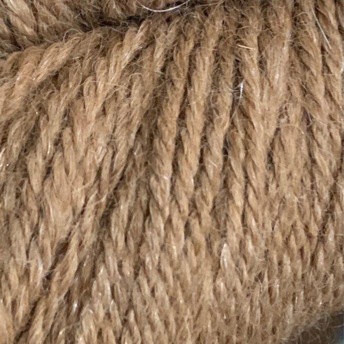 Fawn Alpaca With 10% Firestar Sport Yarn