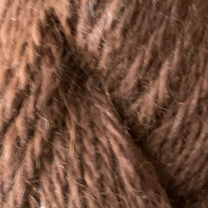 100% Alpaca Dark Brown Worsted Yarn