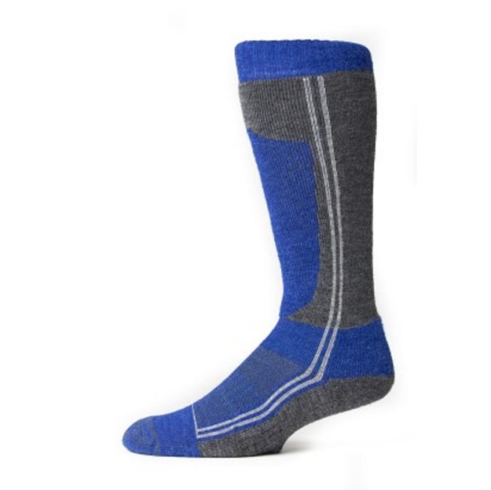 EA Ski Socks in Blue and Grey