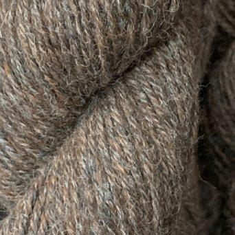 100% Alpaca Yarn in Dark Rose Grey and Dark Silver Grey Tweed