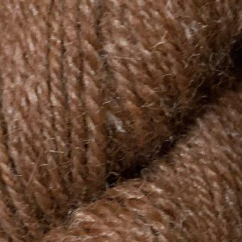Brown Alpaca Yarn and 10% Silk in 3 Ply Sport