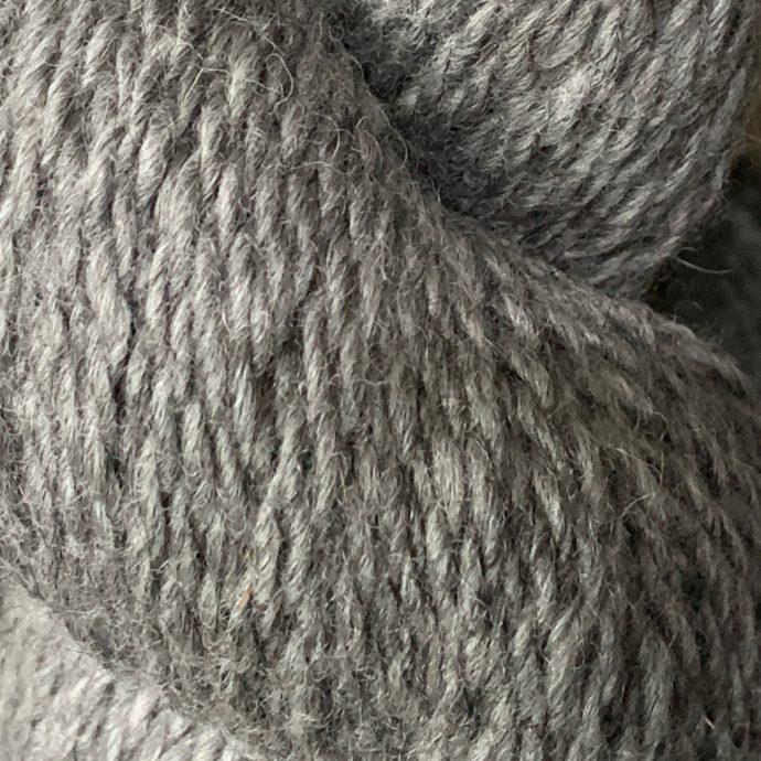 Indie Dark Silver Grey Alpaca Yarn in 2 Ply Worsted
