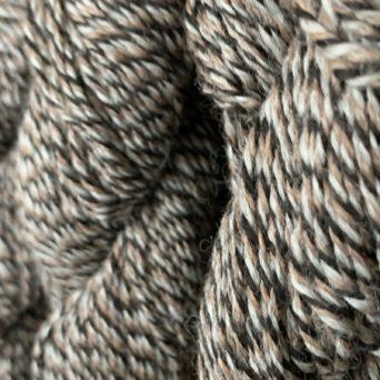 100% Alpaca Yarn in Black Rose Grey and Silver Grey Tweed