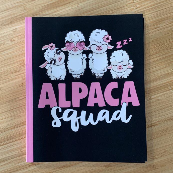 Alpaca Squad Notebook