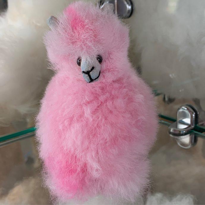 Mini Plush Alpacas - Baby Pink