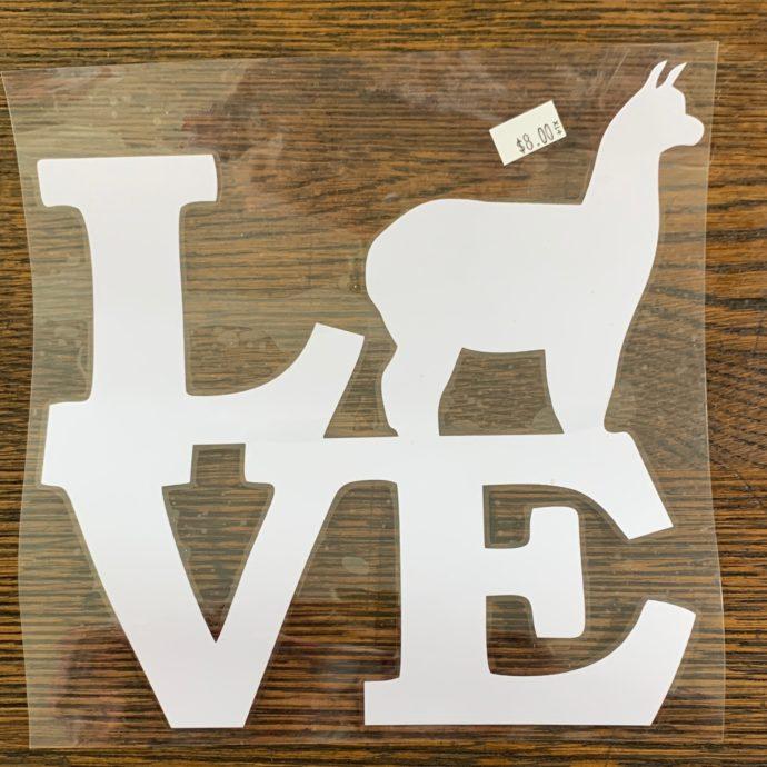 Alpaca Love Car Stickers