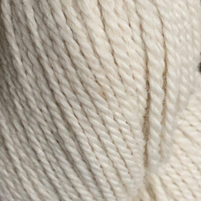 Destin White Alpaca Yarn in 3 Ply Worsted